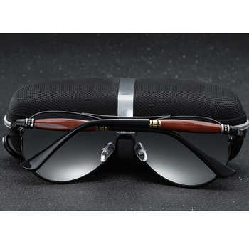 2020 New Man Polarized Sunglasses Silver Metal Frame UV400 Mirror Lens Glasses With Box Size:62-51-136mm