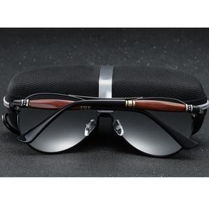 Image 4 - 2020 جديد رجل الاستقطاب النظارات الشمسية الفضة إطار معدني UV400 عدسات عاكسة النظارات مع صندوق الحجم: 62 51 136mm