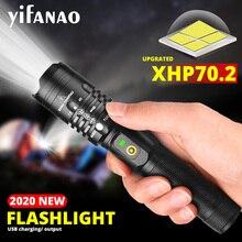 강력한 led 손전등 xhp50.2 충전식 토치 xhp70.2 usb 줌 랜턴 xhp50 사냥 램프 자기 방위 사용 18650