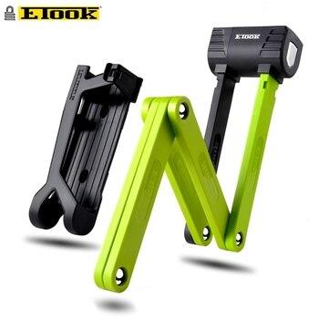 Etook замок для велосипеда складной стальной замок для суставов анти сдвиг складной замок для скутера с высокой безопасностью закаленный ста...