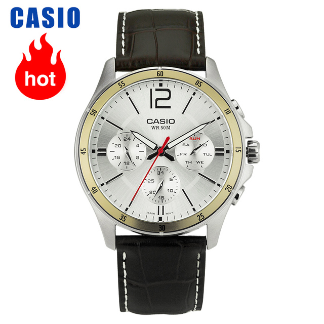 Casio Watch Pointer Series Multi function Chronograph Mens Watch MTP 1374L 7A