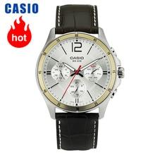 カシオ腕時計ポインターシリーズ多機能クロノグラフメンズ腕時計 MTP 1374L 7A
