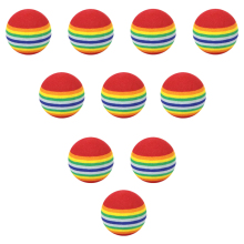 10pcs 35mm 38mm42mm EVA Foam Soft Rainbow Stripe Golf Training Balls Swing Club Beginner Practice Aids Ball Indoor