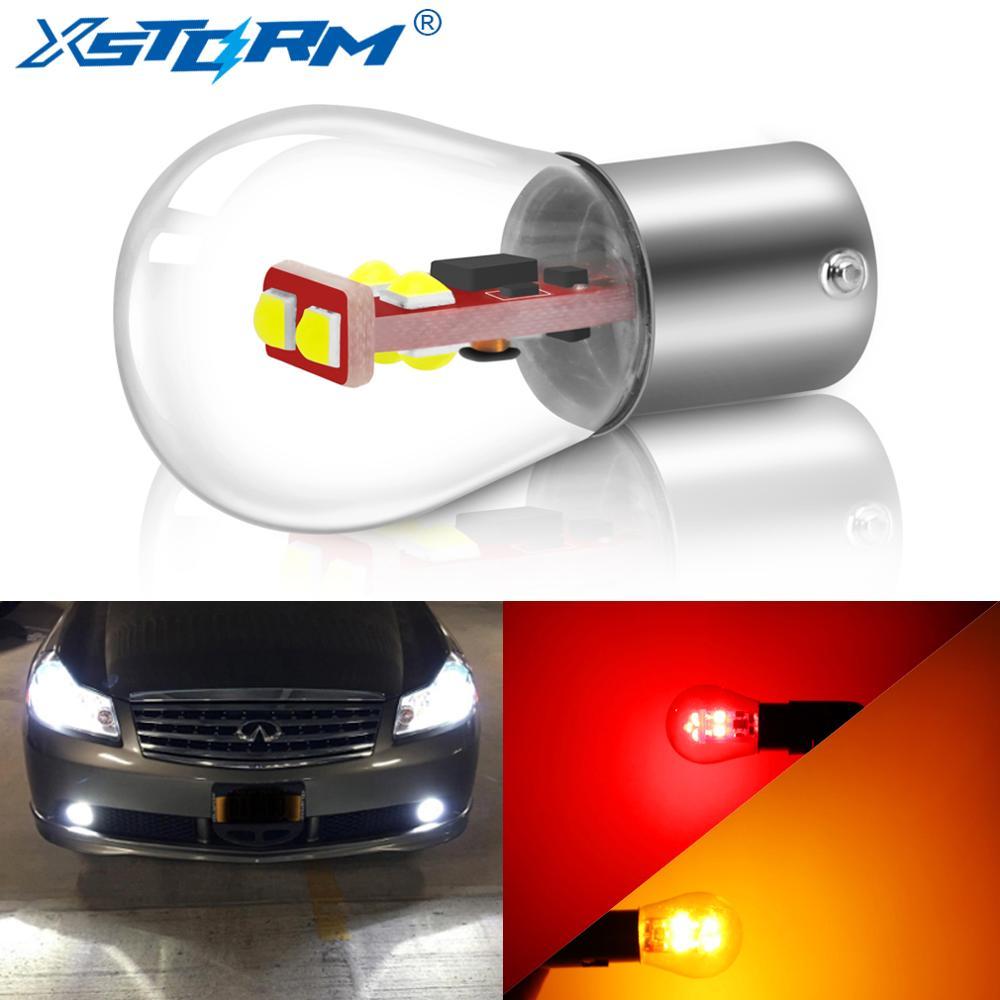 1156 BA15S P21W светодиодные лампы 1157 BAY15D P21/5W Led BA15D BAU15S PY21W Ampoule Автомобильная сигнальная лампа для поворота красный белый желтый автоматический св...