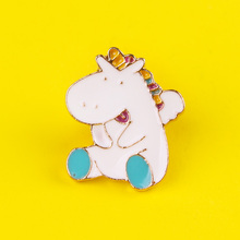 Cartoon Cute Unicorn Badges for Backpack Badges for Clothes Animal Enamel Pins for Backpacks Clothes Lapel Pin Badge Accessories leisurely cute cats badges for clothes animal enamel pins for backpacks clothes lapel pin badges for backpack badge jewelry gift