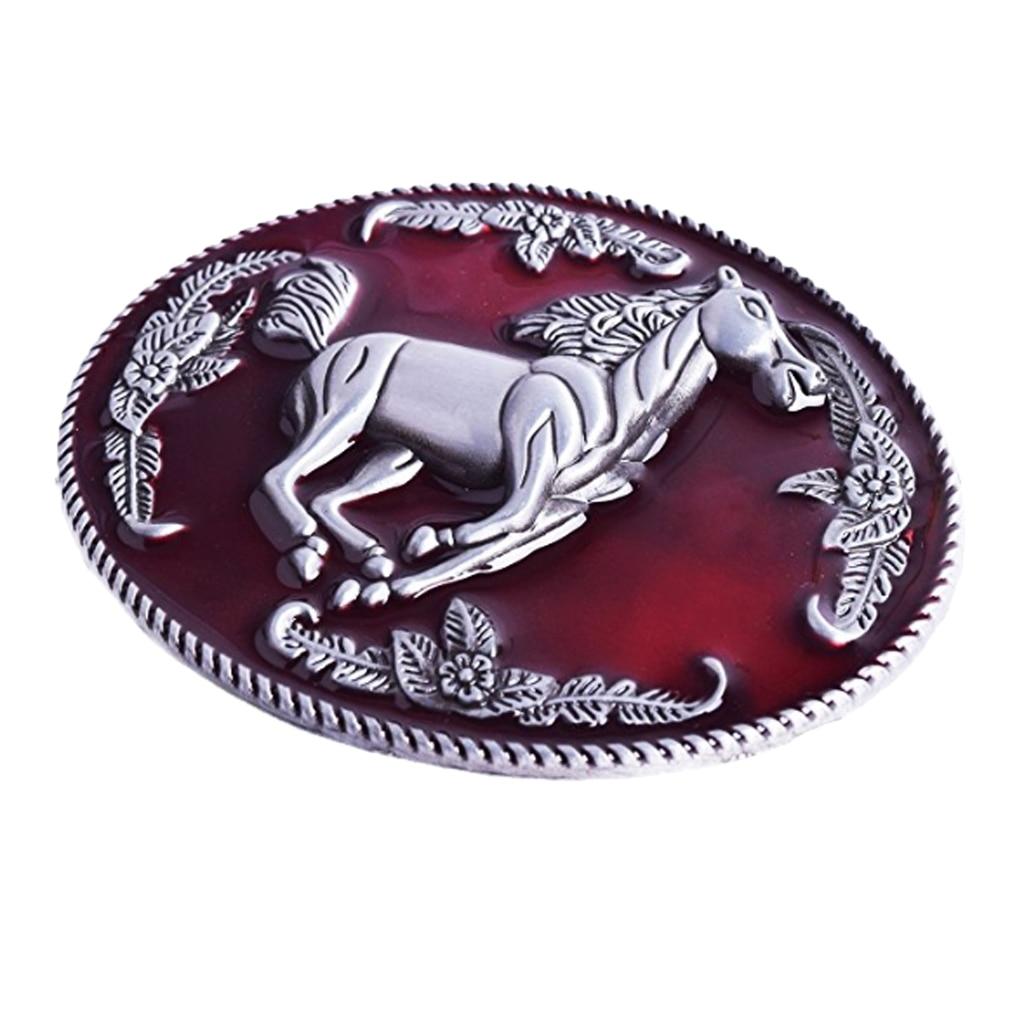 Western Cowboy Mens Metal Zinc Alloy Belt Buckle DIY Leather Belt Accessories