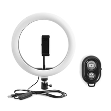 10.2 inch LED Selfie Ring Light Dimmable Ring Lamp with Phone Holder + Bluetooth Remote for Photography Vlogging Live Stream