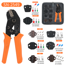 Crimping Pliers Set SN-2549(=SN-48B+SN-28B) Jaw Kit for 2.8 4.8 6.3 VH3.96/Tube/Insulation Terminals Electrical Clamp Min Tools