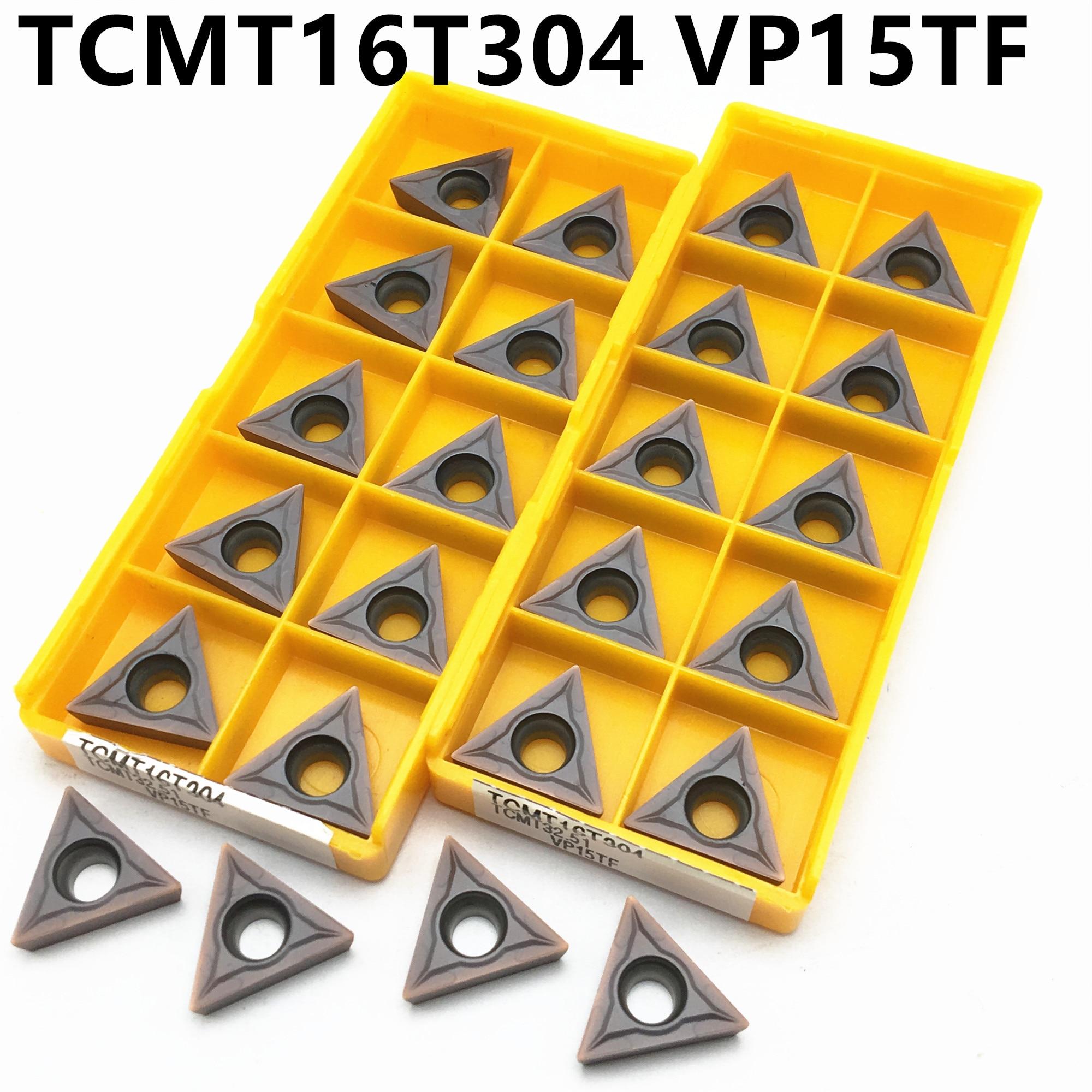 10PCS TCMT16T304 VP15TF Carbide Insert Turning Tool Internal Turning Tool Cutting Insert CNC Lathe Tool TCMT 16T304