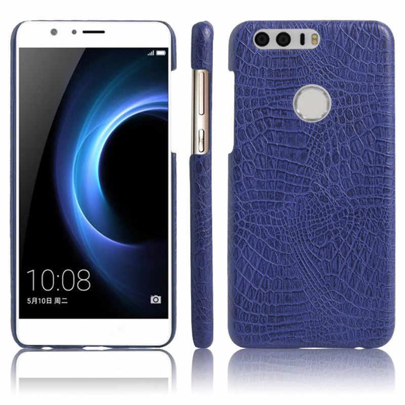 Huawei 社の名誉 8 ケースクロコダイルスキンレザーケース裏表紙 Huawei 社の名誉 8 FRD-L19 FRD-L09 電話ケースバッグ