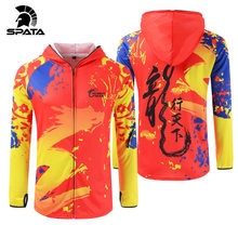 SPATA fishing suits Quick Dry Long Sleeve Chinese dragon Anti UV fishing hoodie coat Cycling Hiking Breathable fishing jackets()