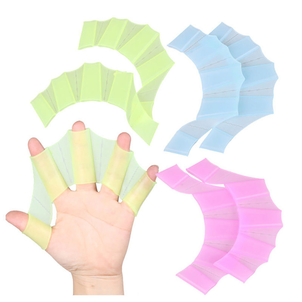 Fins Hand Web Flippers Training Silicone Swim Gear Finger Webbed Gloves Webbed Gloves Diving Gloves Universal Swimming Tool