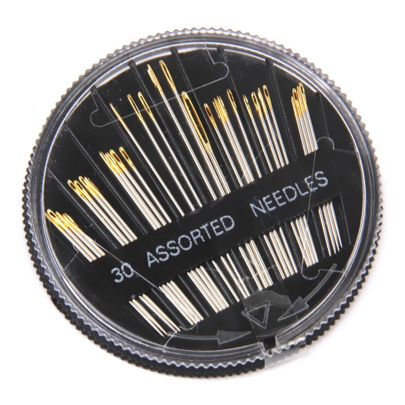 30 Assorted Hand Sewing Needles Embroidery Mending Craft Quilt Sew Case