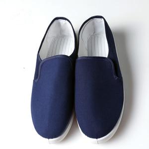 Image 1 - Anti Static รองเท้าเพื่อความปลอดภัยรองเท้าผ้าใบสีฟ้าแรงงาน Work Shop ทำความสะอาดฝุ่น ฟรี Purification