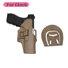 цены For GLock 17 19 22 23 31 32 CQC Tactical Holster Airsoft Paintball Right HandHolster with Belt Loop Waist Paddle Gun Holster