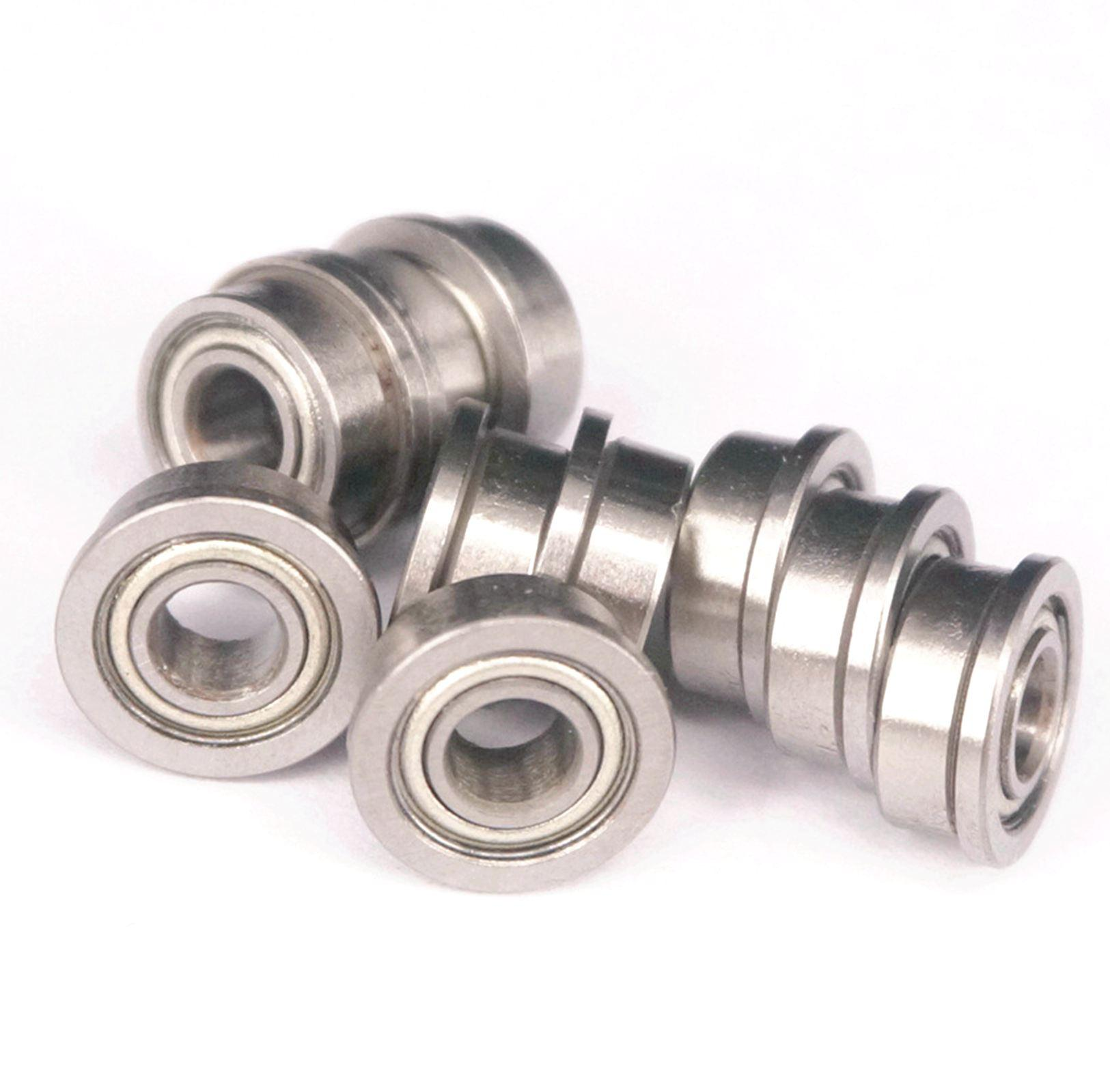 10pcs F684ZZ 4x9x4mm ABEC1 Metal Shielded Deep Groove Flanged Flange Bearing Toy DIY TrundleLow Speed Transmission