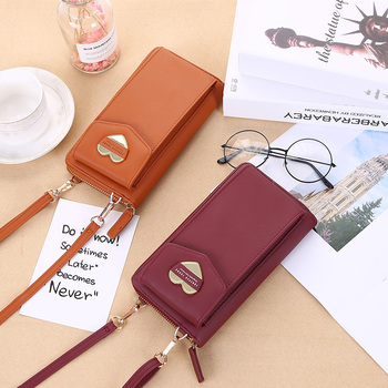 2020 Women Wallet Brand Cell Phone Wallet Big Card Holders Wallet Handbag Purse Clutch Messenger Shoulder Straps Bag women cell phone bag shoulder transparent bag card holders girl handbag ladies pu leather clutch phone wallets purse 2020