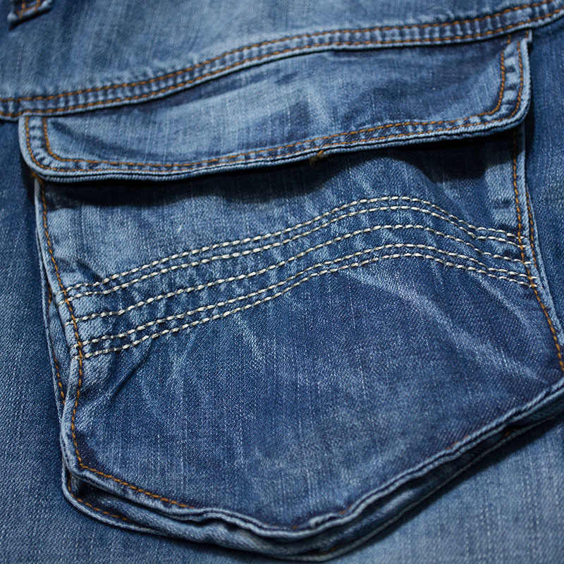 높은 품질 새로운 패션 망 여름 카고 청바지 포켓 느슨한 데님 바지 헐렁한 바지 카우보이 반바지 플러스 크기 30-46
