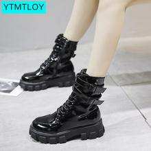 Women winter Ankle Boots Casual Lace Up Female Platform Shoes