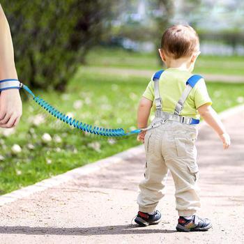 Anti Lost Baby Safety Harness Leash Children Walking Backpack Wrist Cuff Link Lock