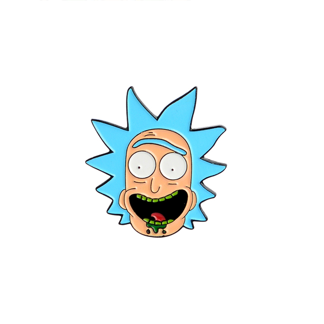 Classic Cartoon Enamel pin Rick and Morty Philip J. Fry Mermaid Man Barnacle Boy lapel pin badges Buttons brooches Anime Jewelry