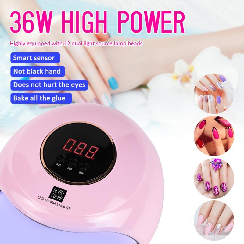 1 Pcs 180W Four-speed Intelligent Induction Phototherapy Lamp Nail Dryers Nail Polish Baking Light Therapy Nail Lamp Nail Art 6