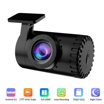 New HD 1080P Car Video Camera Night Vision Dash Cam Video Recorder Android USB 170° Wide Angel Car Dashcam Hidden DVR Camera image