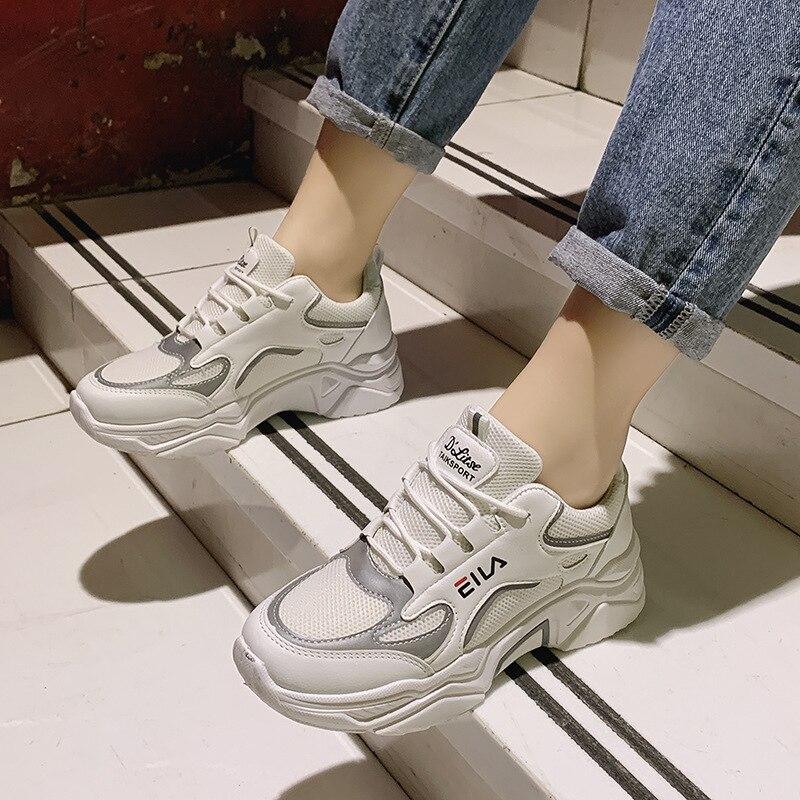 New Sneakers Women Casual Shoes Women's Fashion Platform Sneakers Basket Femme Casual Chunky Shoes Women Zapatos De Mujer