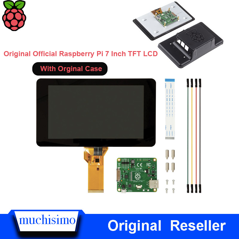 Original Official Raspberry Pi 7 Inch TFT LCD Touch Screen Shield Monitor Display 800*480 With Orginal Raspberry Pi  Case