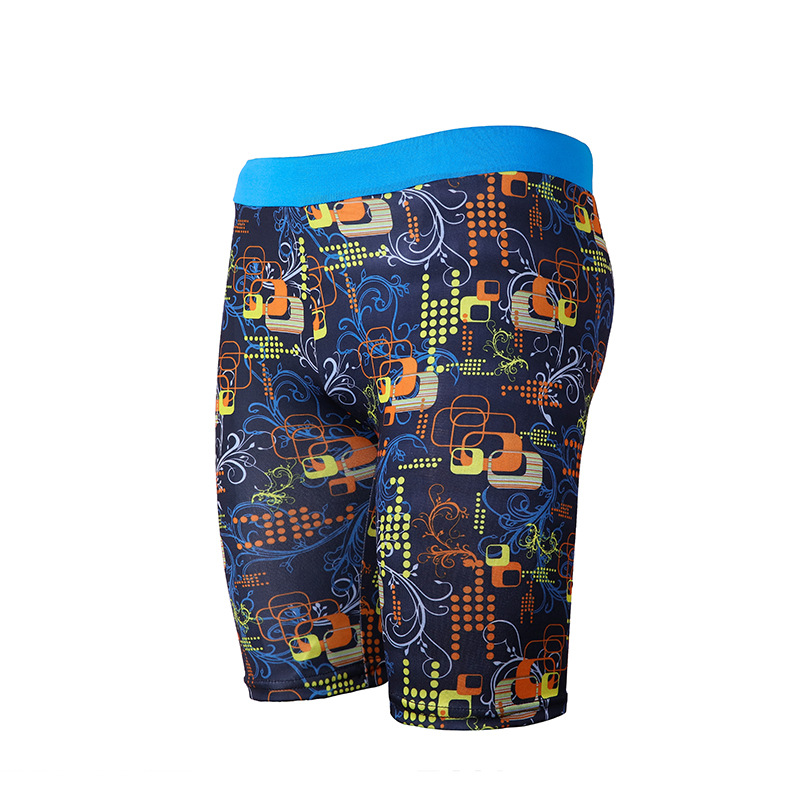 Disposable Fashion Sweat-wicking Swimming Trunks Printed MEN'S Fifth Pants Adult Bathing Suit Tight Tour Bathing Suit Slim Fit S