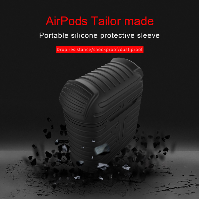 New Wireless Headset Silicone Case Keychain for iPhone Air pods earphone protective cover case box headphone Accessories