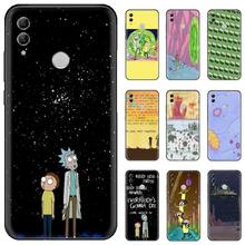 Rick and Morty Funny Cartoon Black Soft Shell Phone Case Capa For Huawei Honor 7C 7A 8X 8A 9 10 10i Lite 20 NOVA 3i 3e for huawei honor mate 7c 7a 8 8x 9 9n 10 20 nova 3 3e 3i pro lite black silicon phone case adventure time style