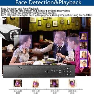 Image 3 - 8CH POE 48V kamera IP system cctv NVR zestaw nagrywania twarzy HD 5.0MP odkryty IR Night Vision zestawy nadzoru bezpieczeństwa 8*20m Netcable