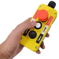 5А Кран кнопочный переключатель портативный аварийный стоп кнопка включения выключения переключатель для подъемного крана подвесная стан...