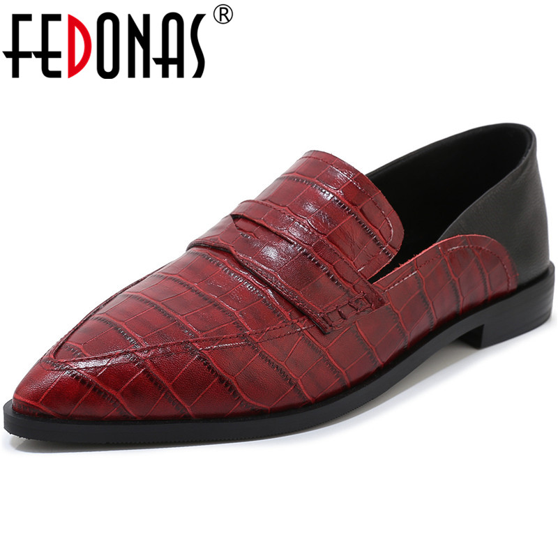 FEDONAS New Arrival Women Party Prom Square Toe Pumps Spring Summer Square Heeled Shoes Genuine Leather Brand Basic Shoes Woman