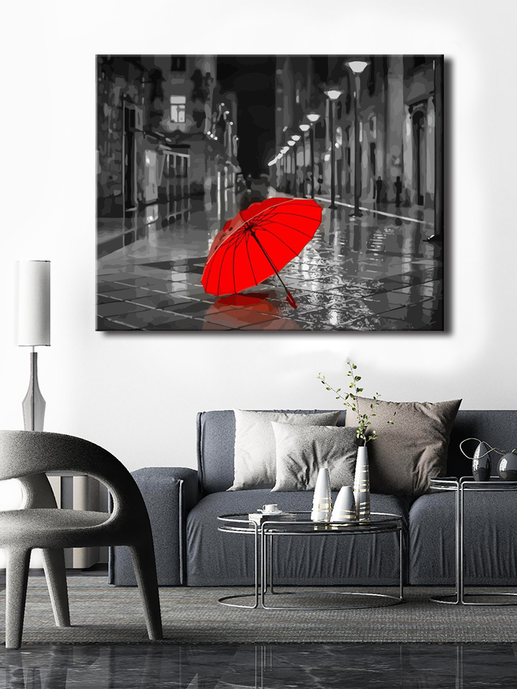 CHENISTORY Picture Canvas Painting-Decor Numbers-Kit Acrylic-Paint Wall-Art Landscape