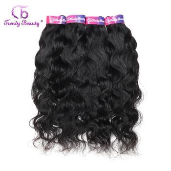 Indyjskie naturalne włosy falowane 3 4 wiązki przedłużanie włosów ludzkie włosy podwójne rysowane mogą być barwione 28 30 cali naturalne włosy falowane tanie i dobre opinie TRENDY BEAUTY Natural Wave CN (pochodzenie) Indyjskie włosy Tylko ciemniejszy kolor Obróbka kwasowa Tkactwo Podwójny wątek robiony maszynowo