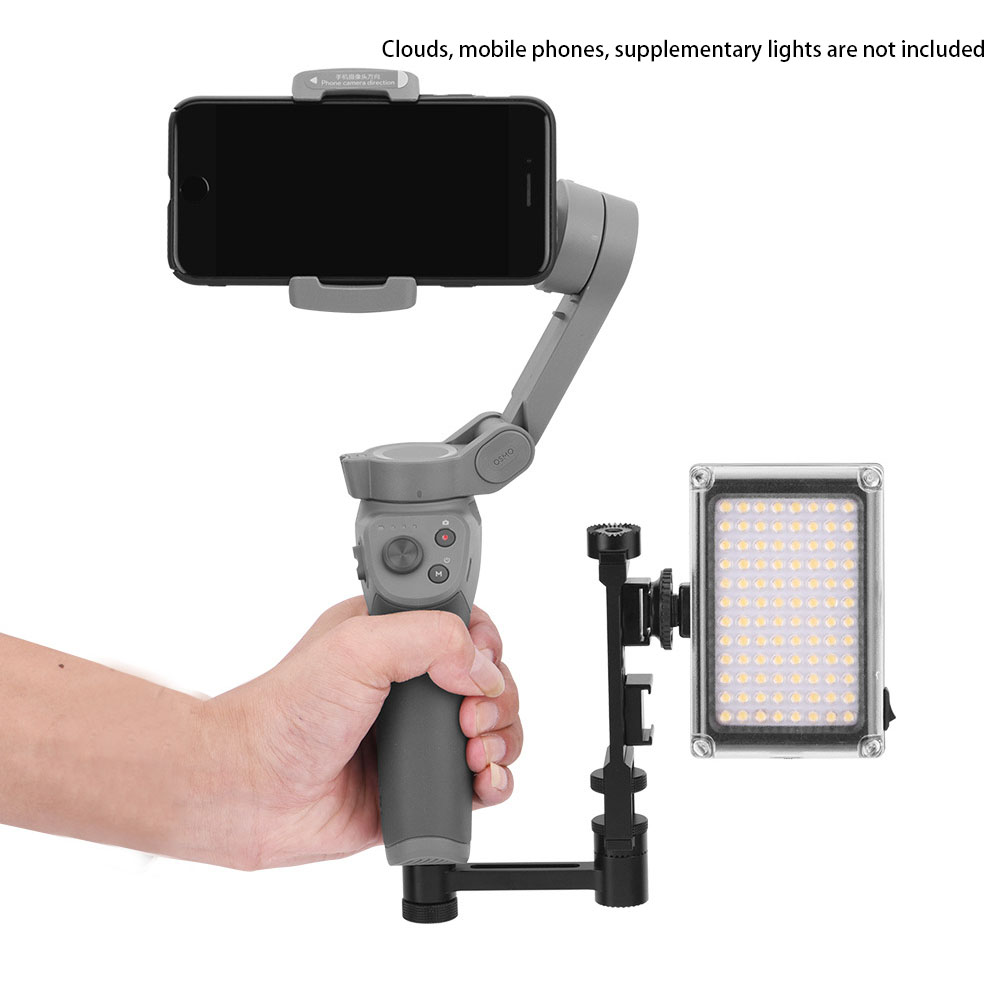 2 Pcs Expanding Bracket Flash Light Stable Accessories Connector Camera Adjustable Aluminum Alloy Handheld Gimbal For DJI OSMO3