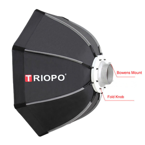 Image 2 - Triopo 65cm Portable Bowens Mount Octagon Umbrella Softbox + Carrying Bag for Photo Studio Flash Outdoor Photography Soft Box