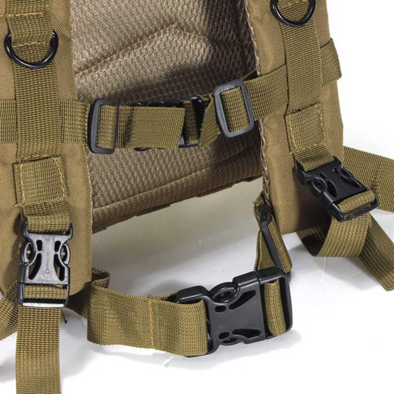 Ransel Militer Taktis Tahan Air Tas Tentara Nilon Ransel Outdoor Olahraga Camping Hiking Memancing Berburu Kamuflase Ransel