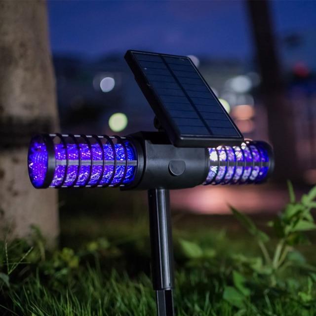 Mosquito Repellent Light Outdoor Solar Powered Pest Flies Insect Lamp Garden Ground Insert 4