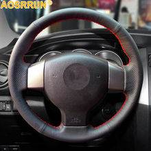 Leather Car steering wheel Covers For Old Nissan Tiida Livina Sylphy Note Versa 2004 2010 2011 2008 2006 Car Accessories