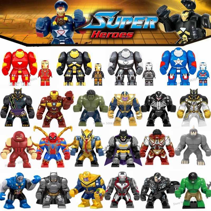 マーベルのスーパーヒーローアイアンマン thanos さんハルクバットマン毒ウルヴァリン黒パンサーアベンジャーズ endgame ビルディングブロック子供のおもちゃ