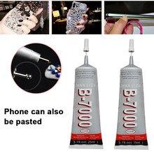 B7000 telefone celular reparação cola 15ml força industrial adesivo smartphones tablets telas gemas diy artesanato adesivo pequeno cheiro