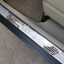 Dla Renault CLIO IV clio 4 próg drzwi zabezpieczenia przed rysami akcesoria samochodowe stal próg drzwi s pedał stylowe naklejki samochodowe 2014 2019