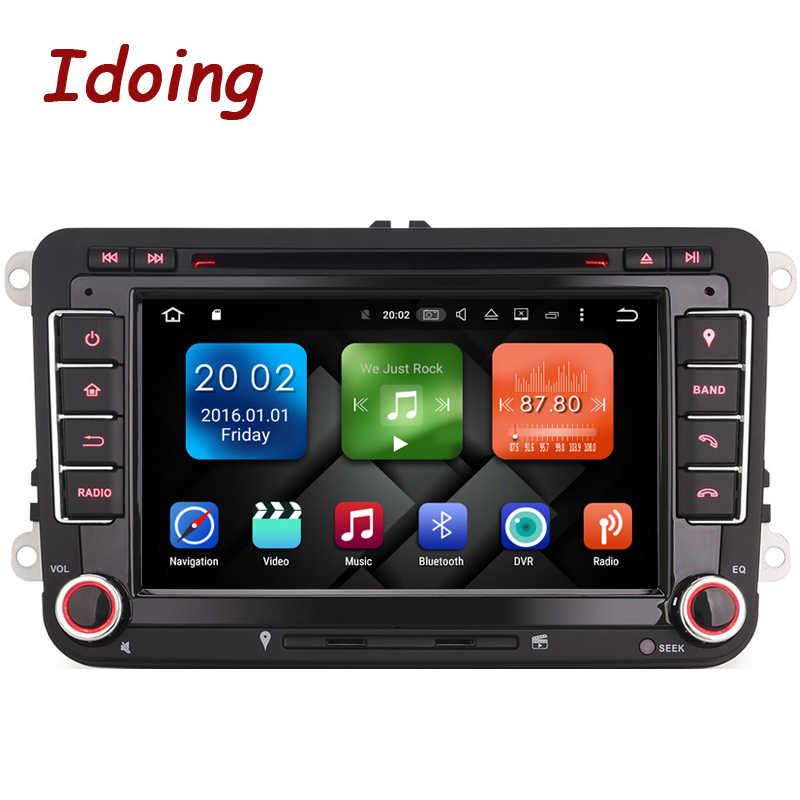 Idoing Android 2G + 32G 8Core 2Din Stuurwiel Voor Vw Polo/Skoda/Seat auto Multimedia Speler Snelle Boot Tv 1080P Hdp