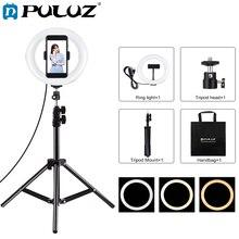 PULUZ 7.9 cal LED Selfie lampa pierścieniowa i zacisk telefonu komórkowego i stojak trójnóg Vlogging lampa wideo zestawy dla YouTube Blogger nagrywanie wideo