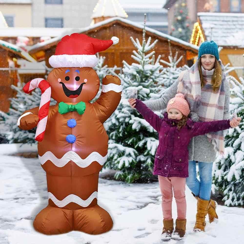 1.8m şişme santa baba oyuncak açık noel dekorasyon ev Yard için kemer süsleme yeni yıl partisi dekor Navidad süsler