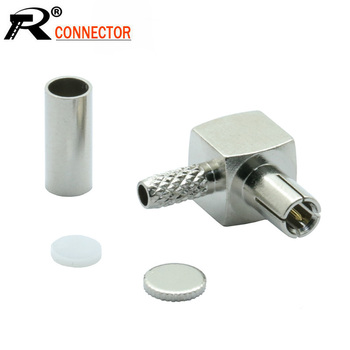 100pcs/lot TS9 Connector Right Angle TS9 Male Plug Adapter for RF Coaxial Cable RG316 RG178 Wholesale