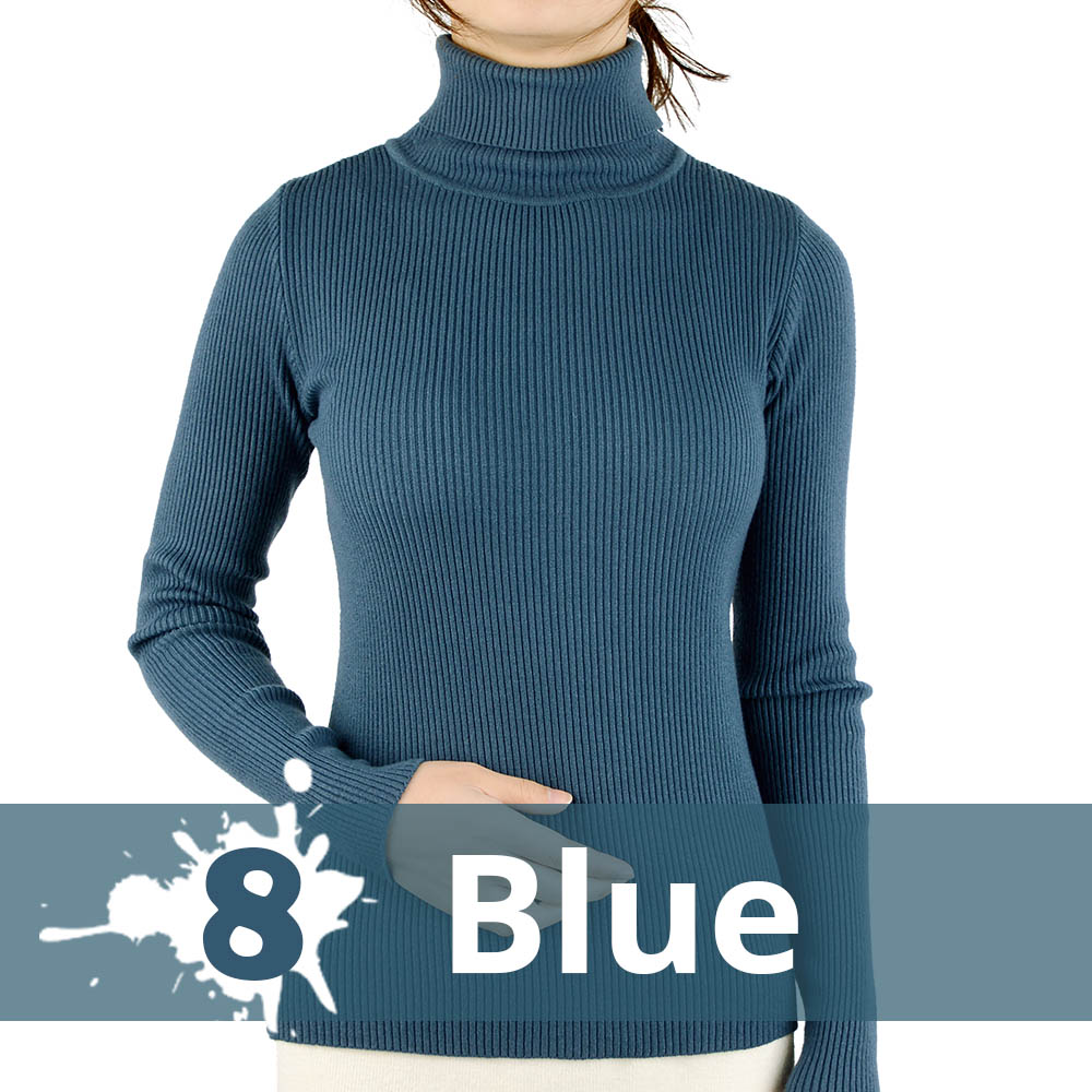2021 Autumn Winter Thick Sweater Women Knitted Ribbed Pullover Sweater Long Sleeve Turtleneck Slim Jumper Soft Warm Pull Femme 10